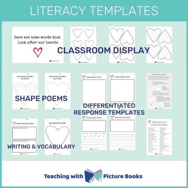 words and your heart literacy templates